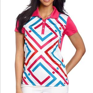 NWT PUMA Golf Women's Outline Graphic Polo: XL